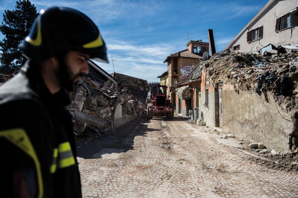 09/03/2017, Amatrice(RI) - Il centro di Amatrice dopo quasi 7 mesi dal terremoto che ha colpito il centro Italia.