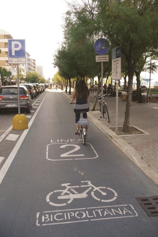 foto delle bicipolitana di Pesaro