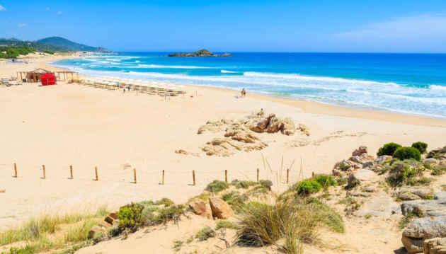 una foto della spiaggia di Chia