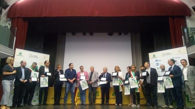 foto della premiazione dei Comuni Ricicloni 2018