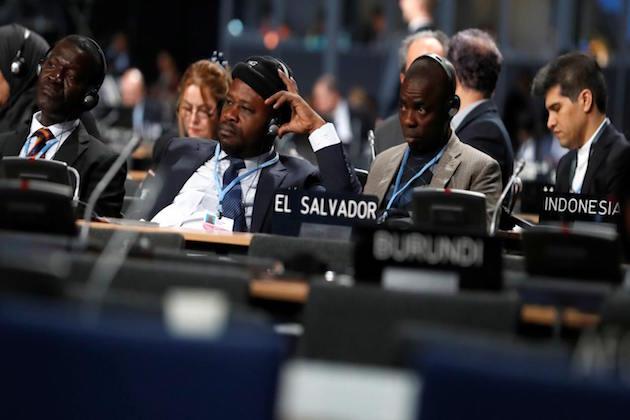 L'immagine di alcuni delegati che hanno partecipato a Cop 24