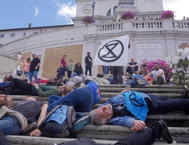 Manifestazione a Roma di Extinction Rebellion