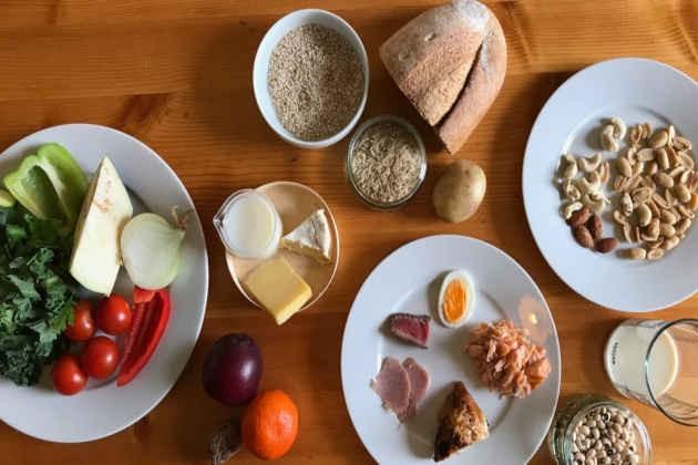 L'immagine di alimenti per una dieta sostenibile
