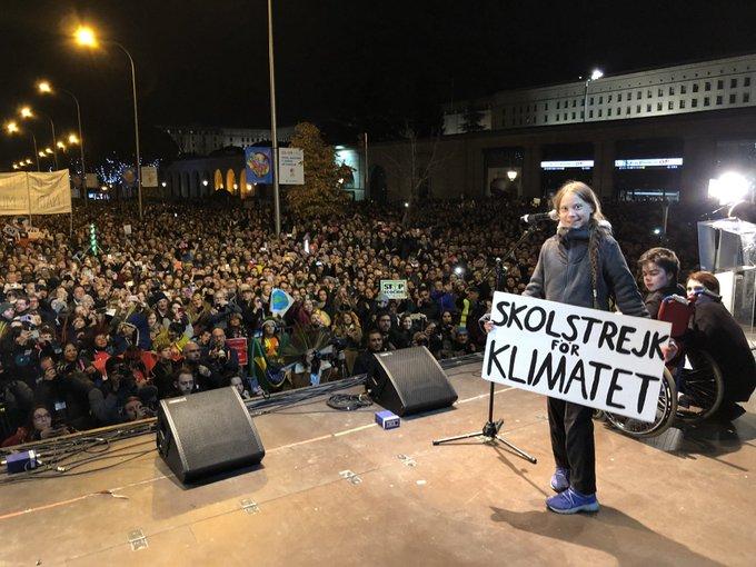 Greta Thunberg a Madrid