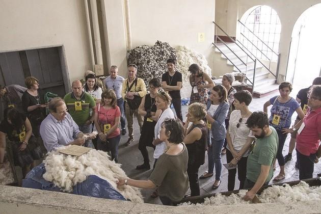 immagine di una visita al Lanificio Paoletti