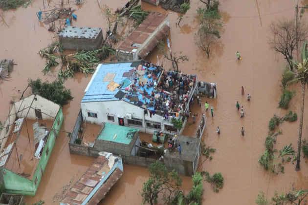Mozambico, un'immagine del disastro causato dal ciclone