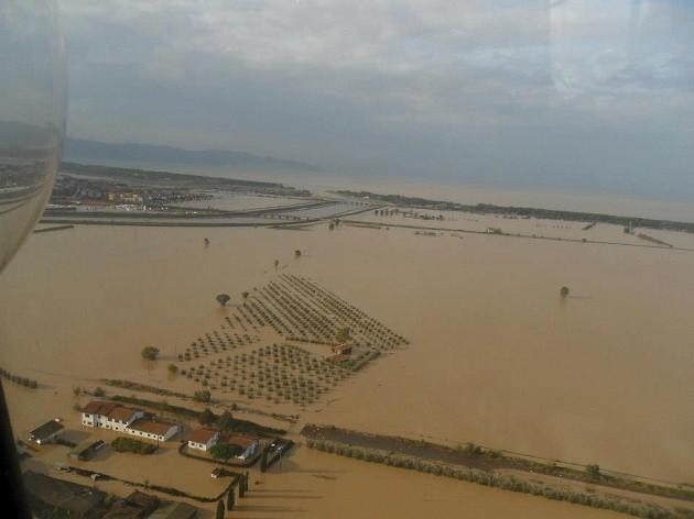 Immagine di un'alluvione in Toscana