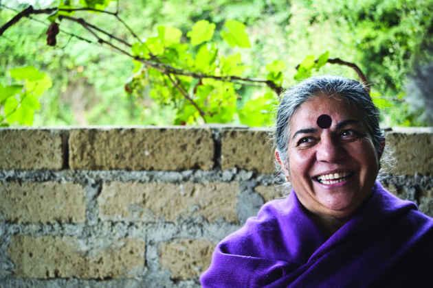Una fotografia di Vandana Shiva