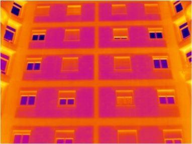foto termografia edificio a via Cicerone (Palermo)