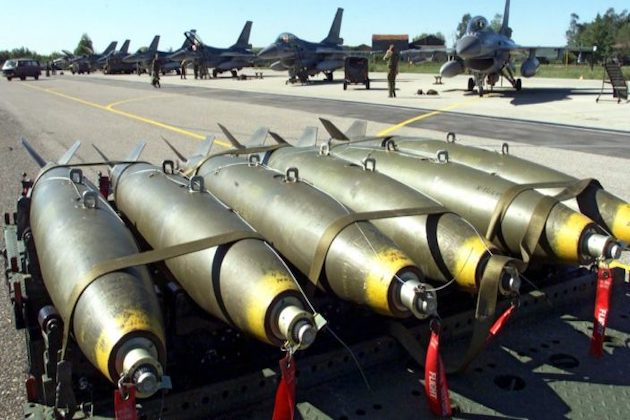 Immagini di missili italiani inviati in Yemen