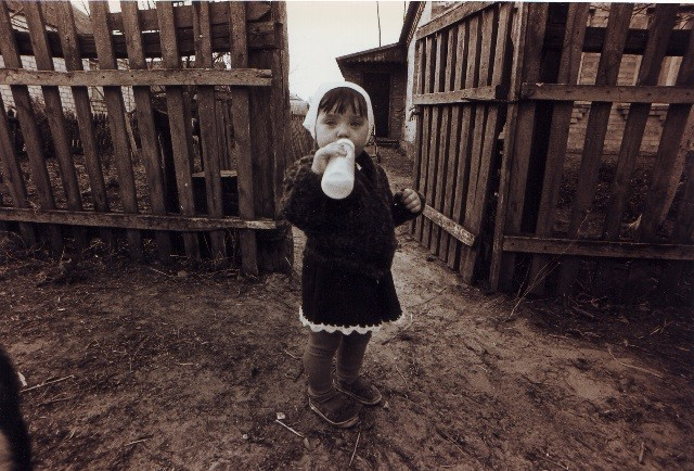 foto di Bambina a Chernobyl