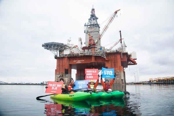 foto del blitz di Greenpeace in Norvegia