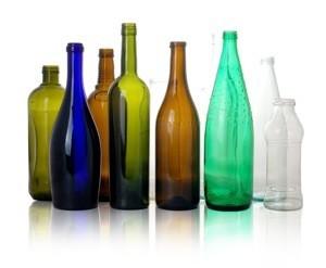 immagine di bottiglie di vetro