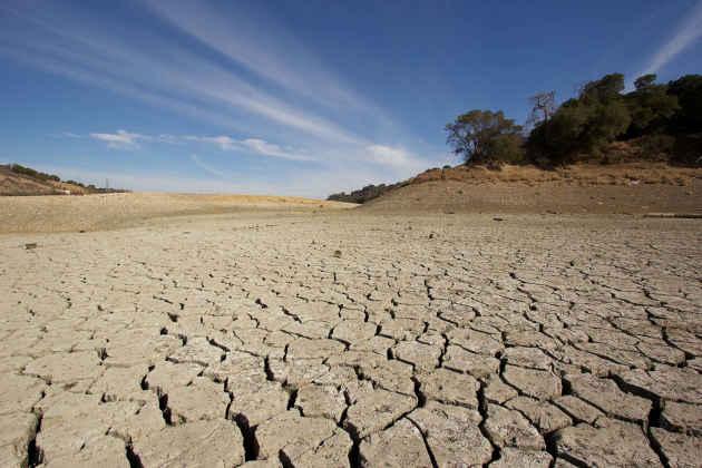L'immagine di un'area colpita da siccità