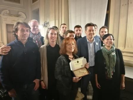 la premiazione della Cartiera Pirinoli Ambientalista dell'Anno 2019
