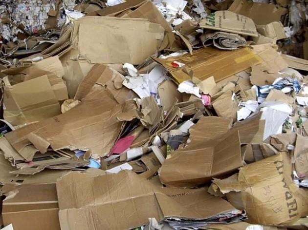immagine di rifiuti in carta e cartoni