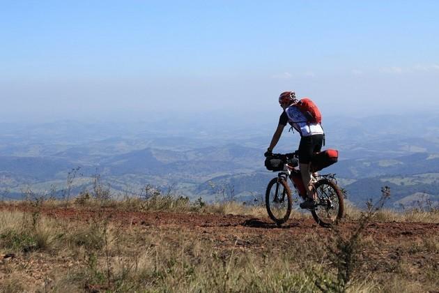 L'immagine di un ciclista