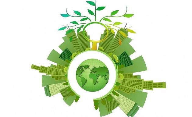 Un'immagine stilizzata del concetto di economia circolare