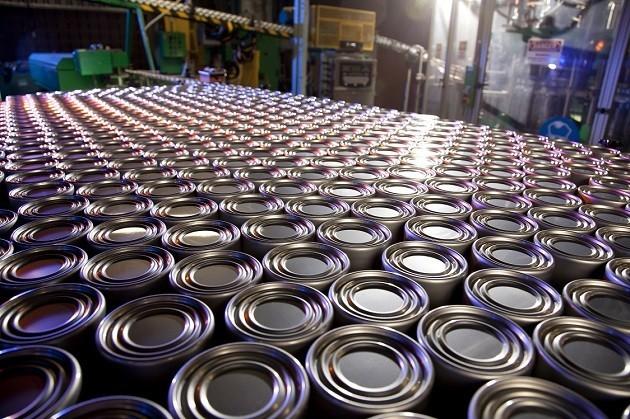 immagine di latte in acciaio riciclato