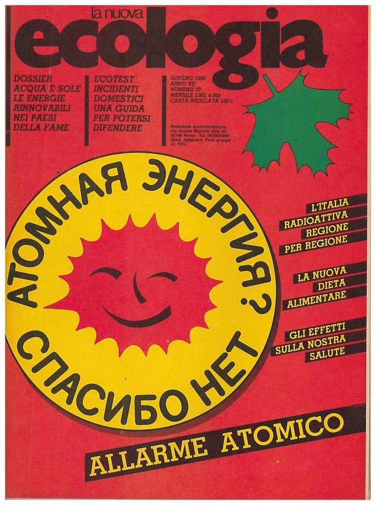 Copertina de La Nuova Ecologia, giugno 1986