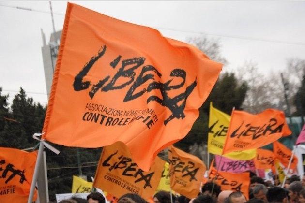 Un'immagine di una manifestazione di Libera