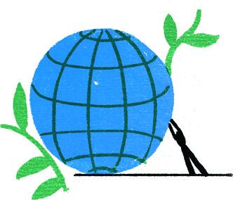 Economia circolare, illustrazione di Irene Rinaldi per La NUova Ecologia