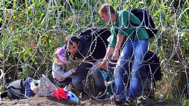 rifugiati in fuga