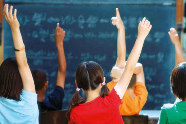 L'immagine di alunni in classe
