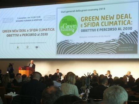 la sala degli Stati generali della green economy