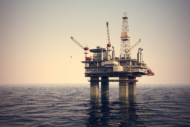 L'immagine di un impianto di perforazione petrolifera off shore