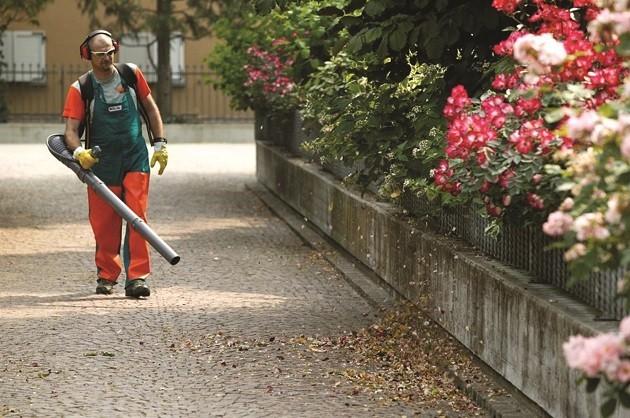 immagine di un lavoratore addetto al verde pubblico