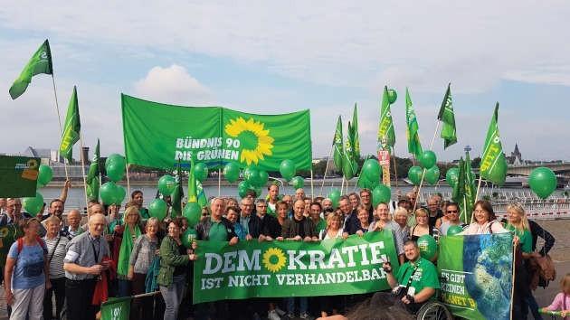 "foto di gruppo dei ""Verdi"" tedeschi"