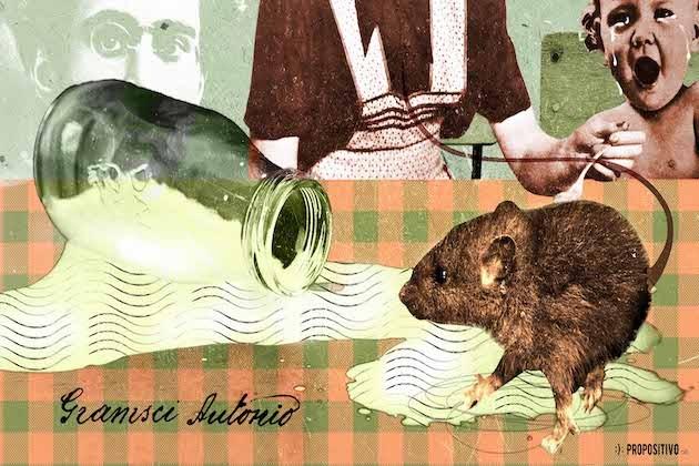 130 anni Gramsci, illustrazione di Valentina Vinci