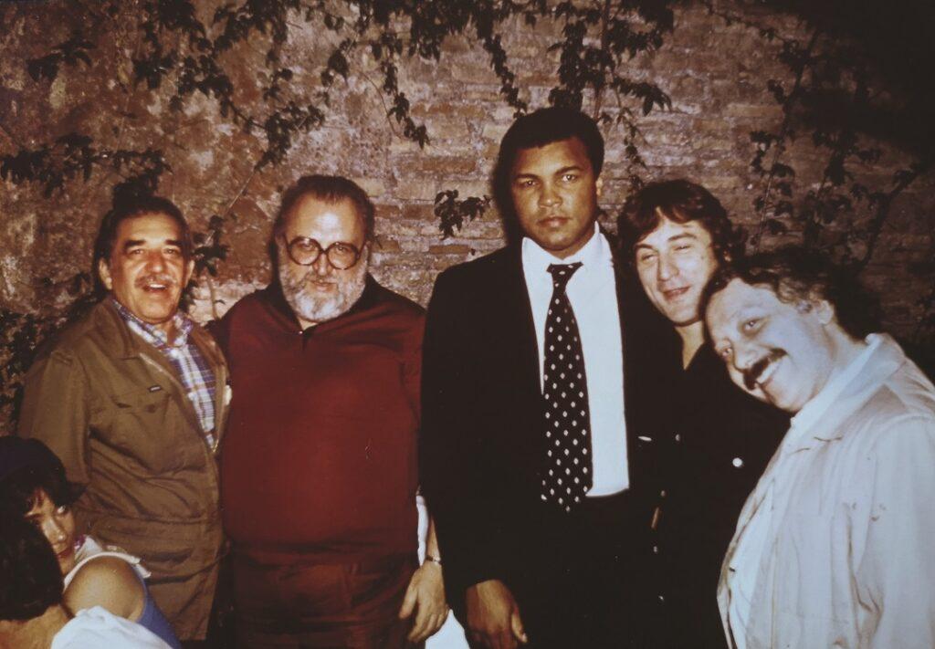 Minà con Gabo, Leone, Muhammad Ali e De Niro