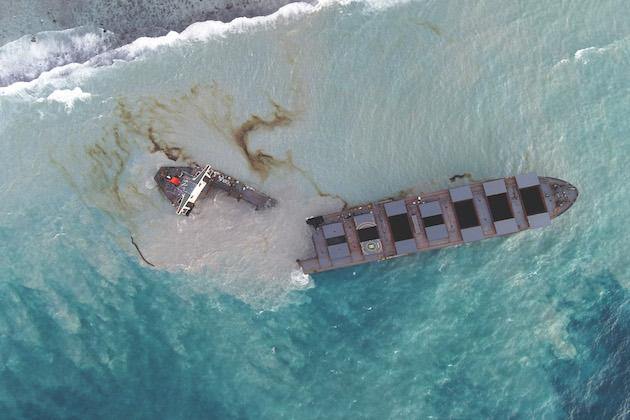 Mauritius inquinamento mare spiagge