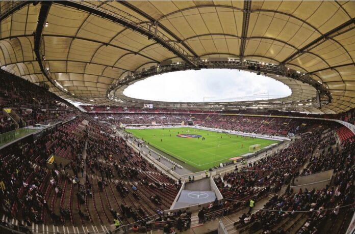 interno della Mercedes Benz Arena