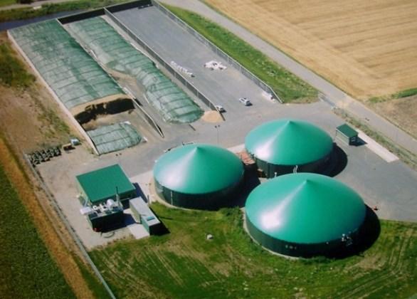 immagine di un impianto per la produzione di biogas